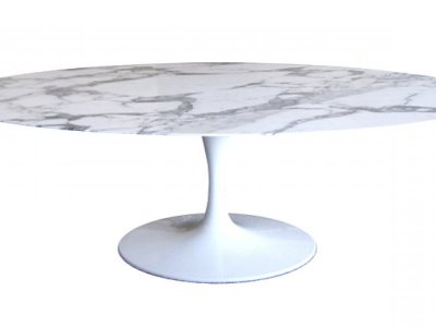EERO SAARINEN TULIP  OVAL DINING TABLE - Carrara