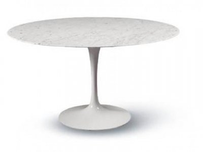 EERO SAARINEN TULIP TABLE  CARRARA MARBLE 120 cm.
