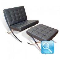 Ludwig Mies Van Der Rohe Barcelona Chair and Ottoman