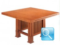 FRANK LLOYD WRIGHT SQUARE DINING TABLE